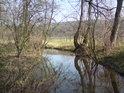 Klidná voda vytváří romantické zrcadlení